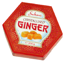 Sultans Crystalized Ginger 200g